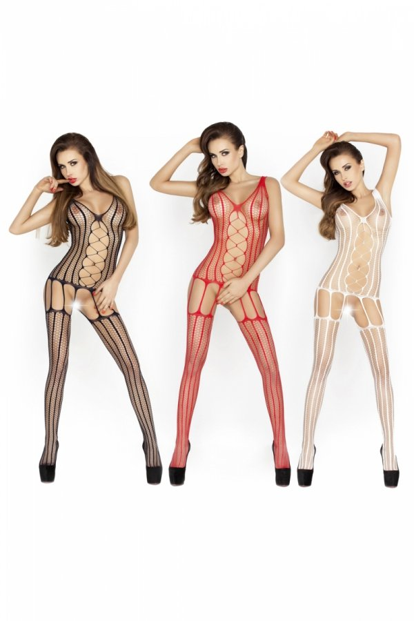 Passion BS013 red Bodystocking
