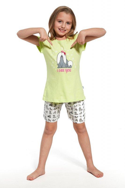 Cornette krótki rękaw 787/57 seledyn piżama dziewczęca