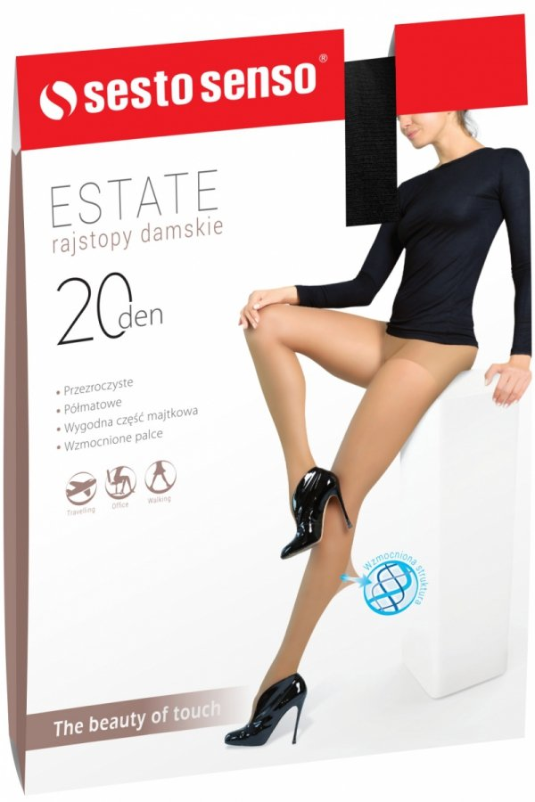 Sesto Senso Estate XL 20 DEN Rajstopy damskie