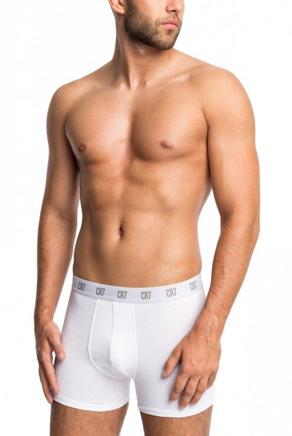 Cristiano Ronaldo CR7 8100 białe 3-pak bokserki męskie