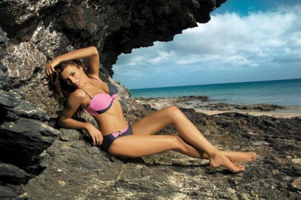 Kostium kąpielowy Marko Liliana Titanium-Hollywood M-259 Szaro-różowy (17)