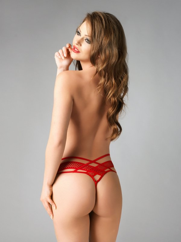 Me Seduce Amber red Stringi