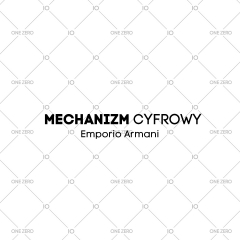 mechanizm cyfrowy Emporio Armani