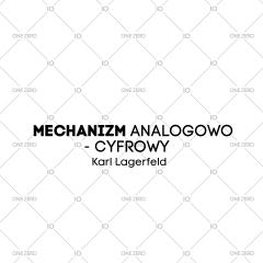 mechanizm analogowo - cyfrowy Karl Lagerfeld