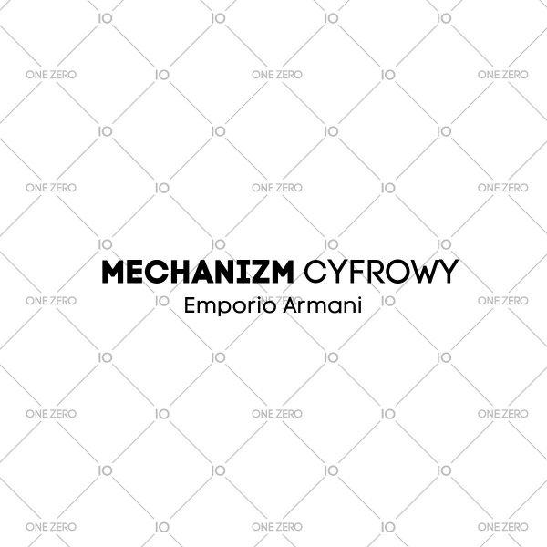 mechanizm cyfrowy Emporio Armani • ONE ZERO • Modne zegarki i biżuteria • Autoryzowany sklep