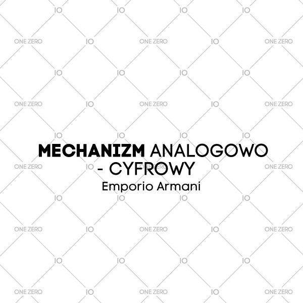 mechanizm analogowo - cyfrowy Emporio Armani • ONE ZERO • Modne zegarki i biżuteria • Autoryzowany sklep