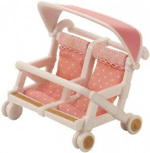 Sylvanian Families Podwójny wózek spacerowy