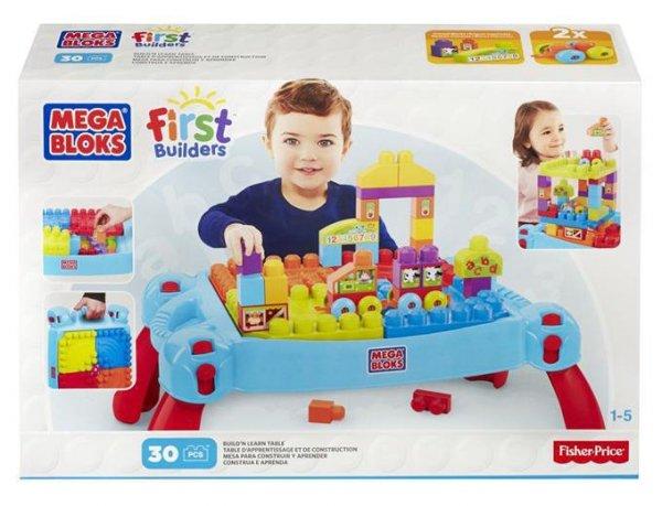 Mega Bloks Stolik z klockami niebieski First Builders