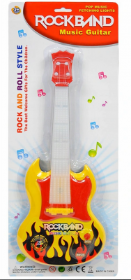 Plastikowa Gitara Elektryczna 40 cm Światło Dźwięk