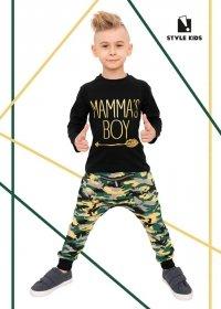 Komplet dla Chłopca Spodnie Moro i Bluzka Mamma's Boy Style Kids