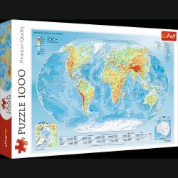 Puzzle Mapa Fizyczna Świata 1000 el. Trefl 10463