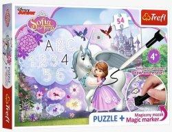 Puzzle Zosia i Jednorożec plus Pisak 54 el. Trefl 75113