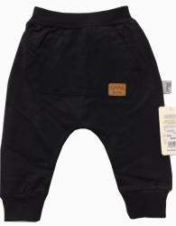 Czarne Spodnie Dziecięce z kieszonką