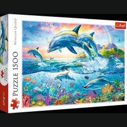 Puzzle Rodzina Delfinów 1500 el. Trefl 26162