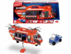 Duży Helikopter ratunkowy XXL z wyciągarką 56 cm światło dźwięk Dickie 3309000