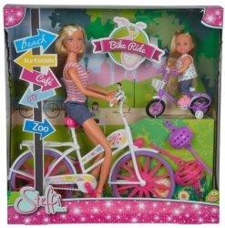Lalka Steffi i Evi Przejażdżka na rowerze Simba 5733045