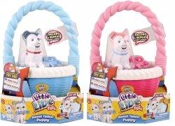Interaktywne zwierzątko Mówiący i Szczekający piesek w koszyczku Little Live Pets Cobi 28176