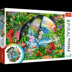 Puzzle Spiralne Tropikalne Zwierzęta 1040 el. Trefl 40014