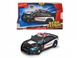 Pojazd SOS Samochód Policyjny Dodge Charger 33 cm Światło Dźwięk Dickie 3308353