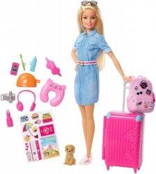 Lalka Barbie w Podróży z pieskiem i akcesoriami Dreamhouse Adventures Mattel FWV25