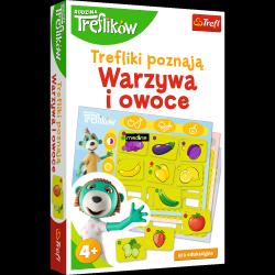 Gra Edukacyjna Trefliki Poznają Warzywa i Owoce Trefl 01840