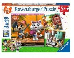 Puzzle 3w1 44 Koty 3x49 el. Ravensburger 050130