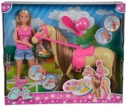 Lalka Steffi i jej słodki koń ruszający głową Simba 5733052