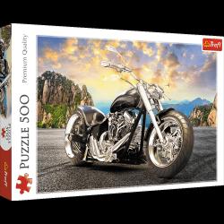 Puzzle Czarny Motocykl 500 el. Trefl 37384