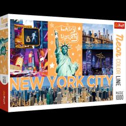 Puzzle Neonowe Miasto 1000 el. Neon Color Line Trefl 10579