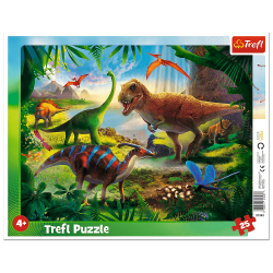 Puzzle Ramkowe Dinozaury 25 el. Trefl 31434