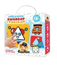 Puzzle Odkrywam kwadrat i trójkąt 16 el. CzuCzu 33633