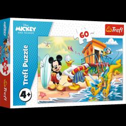 Puzzle Ciekawy Dzień Mikiego i Przyjaciół Myszka Mickey 60 el. Trefl 17359