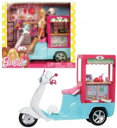 Mobilny Bufecik Lalka Barbie z akcesoriami Mattel FTF94