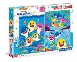 Puzzle Baby Shark 3x48 el. Clementoni 25261