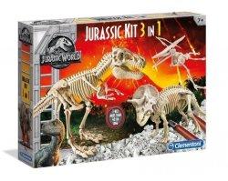 Świat Dinozaurów Jurassic Kit 3w1 Clementoni 19062