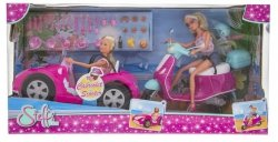 Lalki Steffi w kabriolecie i na skuterze Simba 5738332026
