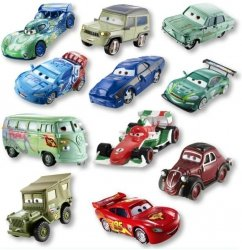 Cars 2 Auta 1-pak Mattel W1938