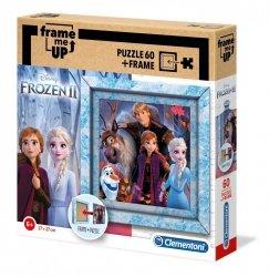 Puzzle Frozen 2 Kraina Lodu 2 60 el. + Ramka Clementoni 38803