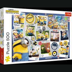 Puzzle Zwariowana Kolekcja Zdjęć 500 el. Minionki Trefl 37390