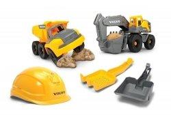 Kask i pojazdy budowlane Zestaw Volvo Dickie Toys 3729013