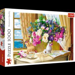 Puzzle Kwiaty o Poranku 1000 el. Trefl 10526