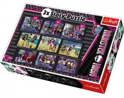 Puzzle Monster High 3x Story 30/40/60 el. Trefl 90308