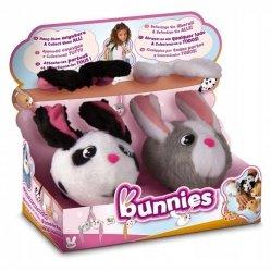 Pluszowe króliki z długimi uszami magnetyczne Bunnies 2-pak TM Toys 95786