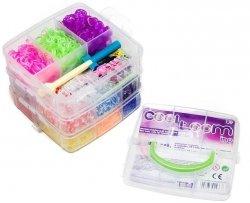 Gumki do bransoletek z atestem zestaw w kuferku 3200 szt. TM Toys 2436 + GRATIS poradnik z pomysłami na ozdoby