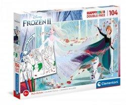 Puzzle Dwustronne Kraina Lodu 2 Frozen 2 104 el. Clementoni 25716
