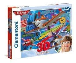 Puzzle 3D Vision Samoloty Planes 104 el. Clementoni 20082