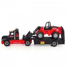 Mammoet samochód holownik z traktorem ładowarką 56993
