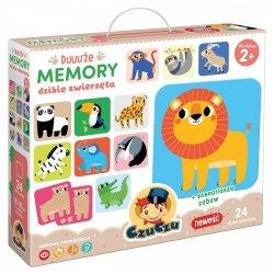 Gra Pamięciowa Duuuże Memory Dzikie Zwierzęta 24 el. CzuCzu 49128