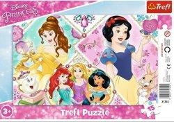 Puzzle Ramkowe Urocze księżniczki 15 el. Trefl 31352