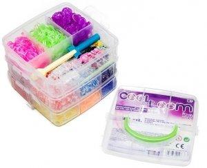 Gumki do bransoletek z atestem zestaw w kuferku 7200 szt. TM Toys 2436 + GRATIS poradnik z pomysłami na ozdoby